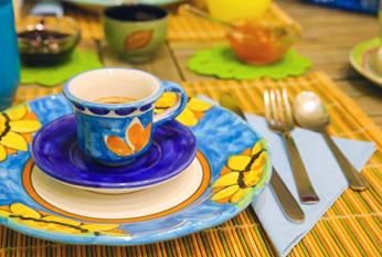 la colazione al bed and breakfast piazza dante napoli